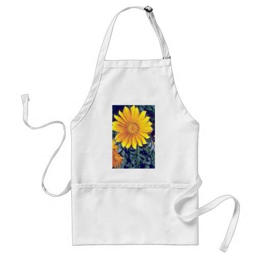 revestimiento amarillo las flores del sol delantales