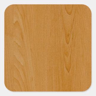 Revestimiento de madera de madera de la escuela pegatina cuadrada