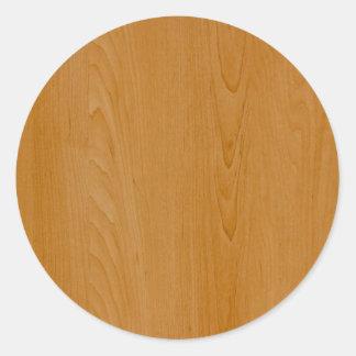 Revestimiento de madera de madera de la escuela pegatina redonda