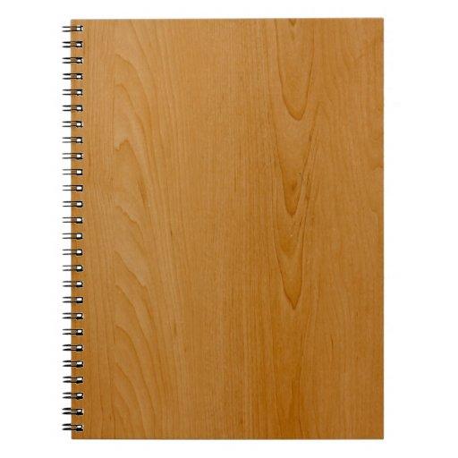 Revestimiento de madera de madera de la escuela vi cuaderno