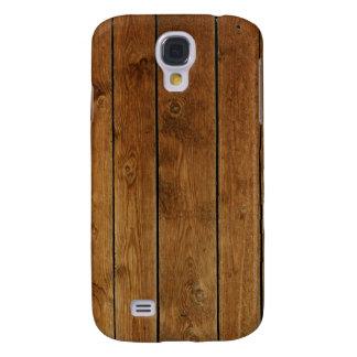 Revestimiento de madera de madera funda para galaxy s4