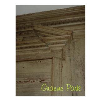 Revestimiento de madera I de la sala Postal