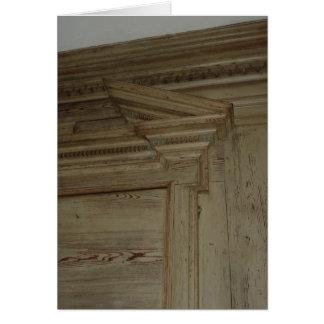 Revestimiento de madera I de la sala Tarjeta De Felicitación