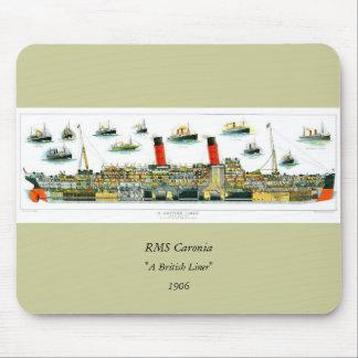 Revestimiento marino británico de la litografía de tapetes de raton