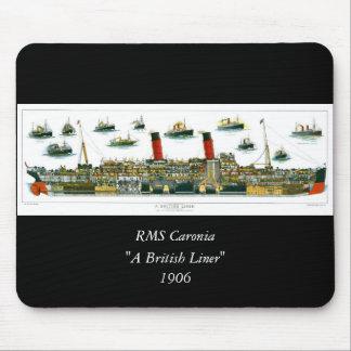 Revestimiento marino británico de la litografía de tapete de raton