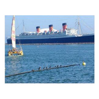 Revestimiento marino de Queen Mary del barco de la Postal