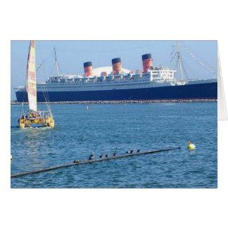 Revestimiento marino de Queen Mary del barco de la Tarjeta De Felicitación