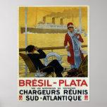 Revestimiento marino del vintage al anuncio del Br Póster