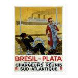 Revestimiento marino del vintage al poster del anu postales