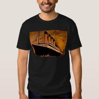 Revestimiento marino del vintage camisas
