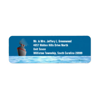 Revestimiento marino etiquetas de remite