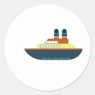 Revestimiento marino etiquetas redondas