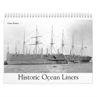 Revestimientos marinos históricos calendario de pared