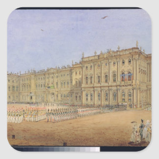 Review at the Winter Palace Square Sticker