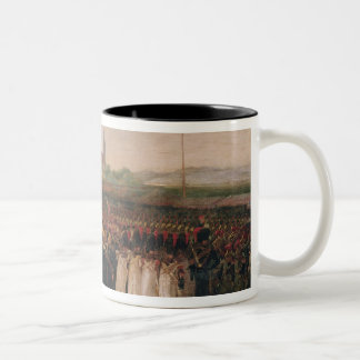 Review of the National Guard and the Fire Two-Tone Coffee Mug
