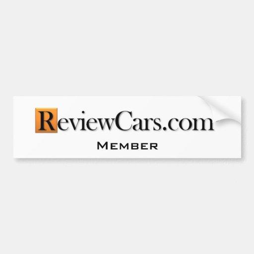 ReviewCars.com Bumper Sticker