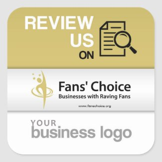 Reviews us on Fans' Choice Square Sticker