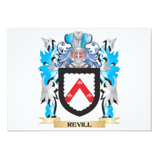 Revill Coat of Arms - Family Crest 5x7 Paper Invitation Card