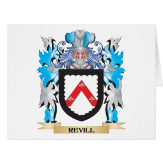 Revill Coat of Arms - Family Crest Large Greeting Card