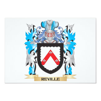 Reville Coat of Arms - Family Crest 5x7 Paper Invitation Card