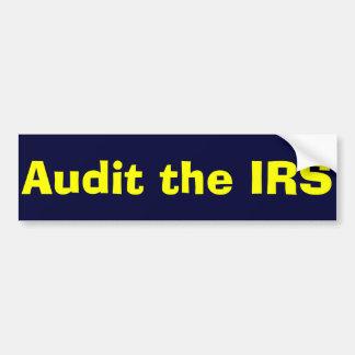 Revise a la pegatina para el parachoques del IRS Pegatina De Parachoque