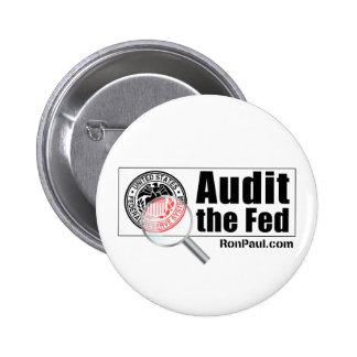 Revise el botón de FED Pin Redondo De 2 Pulgadas