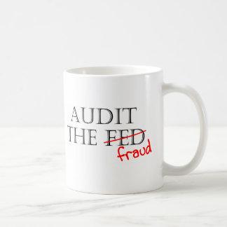 Revise el fraude tazas de café