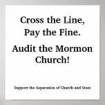 Revise la iglesia mormona posters