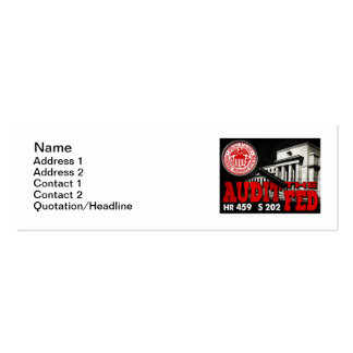 Revise la tarjeta de visita flaca de FED