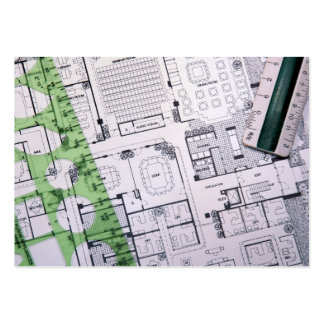 Revised Architect / Contractor / Builder Card Large Business Cards (Pack Of 100)
