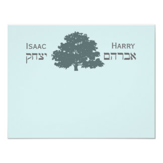 Revised Harry Isaac Thank You 4.25x5.5 Paper Invitation Card