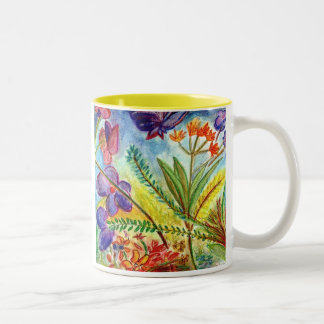 Revised-orchid Two-Tone Coffee Mug