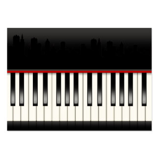 Revised Piano With Skyline - SRF Large Business Cards (Pack Of 100)