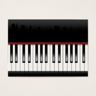 Revised Piano With Skyline - SRF Business Card