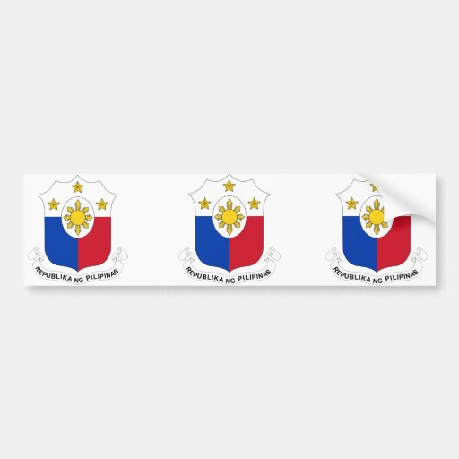 Revised  the Philippines, Philippines Car Bumper Sticker