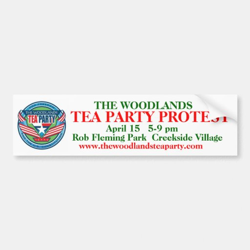 Revised The Woodlands Tea Party b.sticker w/logo Car Bumper Sticker