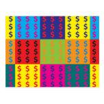 Revisión de arte pop tarjetas postales