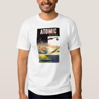 Revista atómica nuclear retra de los años 60 de remeras