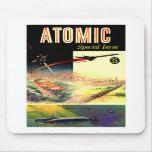Revista atómica nuclear retra de los años 60 de Sc Alfombrillas De Ratones