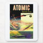 Revista atómica nuclear retra de los años 60 de alfombrilla de ratón
