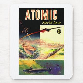 Revista atómica nuclear retra de los años 60 de tapetes de raton