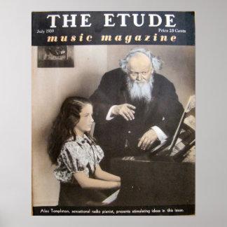 Revista de la música el Etude julio de 1939 Posters