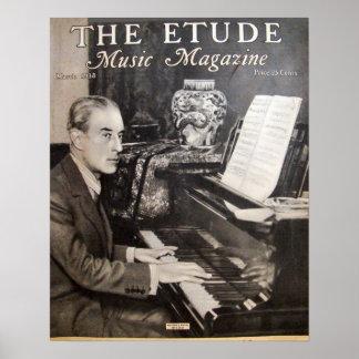 Revista de la música el Etude marzo de 1938 Posters