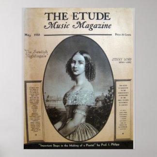 Revista de la música el Etude mayo de 1938 Poster