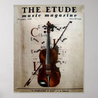Revista de la música el Etude noviembre de 1938 Posters