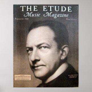 Revista de la música el Etude septiembre de 1938 Posters