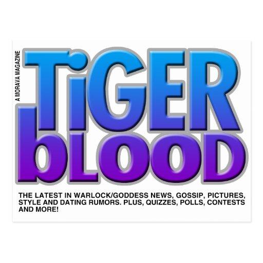 Revista de la sangre del tigre tarjetas postales