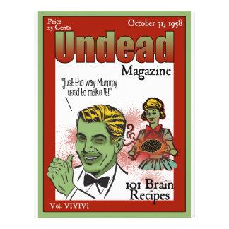 """Revista de los Undead Folleto 8.5"""" X 11"""""""