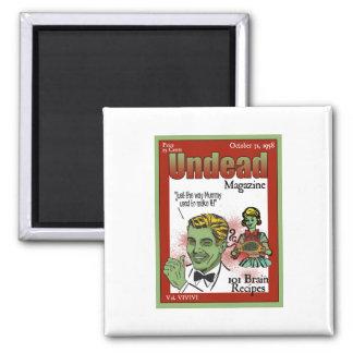 Revista de los Undead Imán Cuadrado