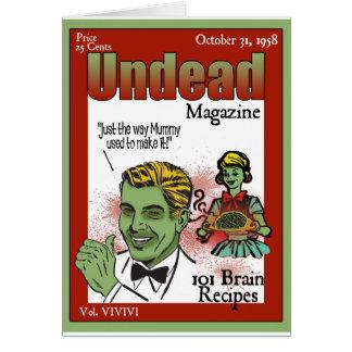 Revista de los Undead Tarjeta De Felicitación